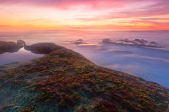 日落场面在拉霍亚 图库摄影