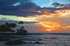 日落夏威夷 库存图片