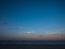 日落天空和海 库存照片