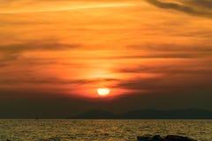 日落天空背景纹理 免版税库存图片