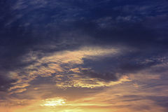 日落天空 免版税图库摄影