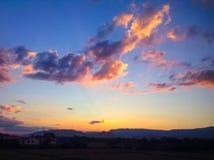 日落山 图库摄影