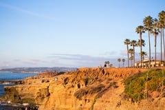 日落峭壁圣地亚哥加利福尼亚 免版税库存图片