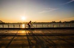 日落循环 免版税图库摄影