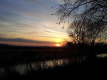 日落或日出 图库摄影