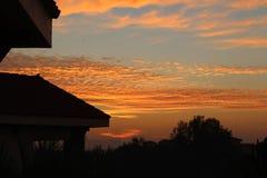 日落日出美丽的天空 库存照片