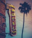 日落棕榈汽车旅馆 库存图片