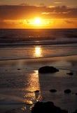 日落沿海地带 库存图片