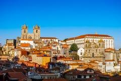 日落波尔图& x28; Portugal& x29;风景 免版税库存图片
