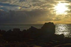 日落波特兰比尔多西特 图库摄影