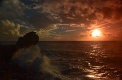 日落波特兰比尔多西特 免版税库存照片