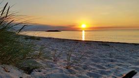 日落波罗的海 库存图片