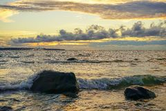 日落波罗的海 免版税库存图片
