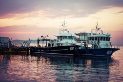 日落海景在王子岛 免版税库存图片