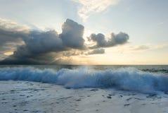 日落海洋 免版税库存图片