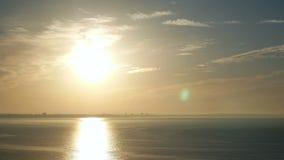 日落海浪太阳 股票视频