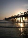 日落海浪 库存图片