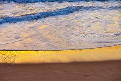日落海运海浪 库存图片