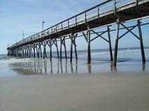 日落海滩北卡罗来纳 免版税库存图片