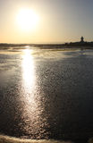 日落海洋反射 免版税库存照片