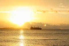 日落海 库存图片