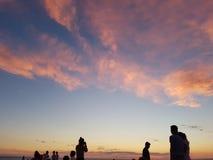 日落海滩 图库摄影