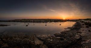 日落海滩II 免版税图库摄影