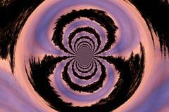 日落漩涡 向量例证