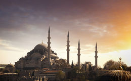 日落的伊斯坦布尔,土耳其 免版税库存照片