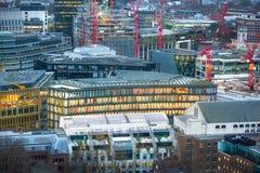 日落的伦敦市 伦敦英国 免版税库存图片