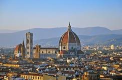 日落的佛罗伦萨 库存图片