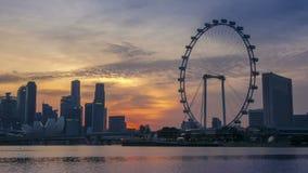 日落的全景在新加坡 时间间隔 股票视频