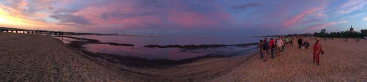 从日落的全景 库存照片
