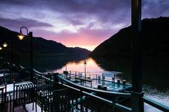 日落的多瑙河 库存图片