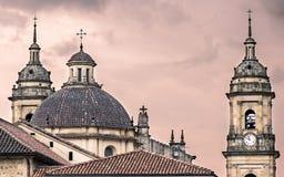 日落的大教堂 免版税图库摄影