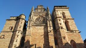 日落的大教堂 库存图片