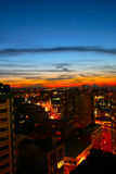 日落的奥克兰 免版税图库摄影