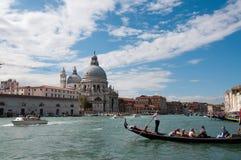 日落的威尼斯教会 免版税图库摄影