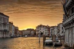 日落的威尼斯,意大利 免版税图库摄影