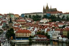 日落的布拉格 免版税图库摄影