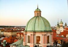 日落的布拉格 免版税库存图片