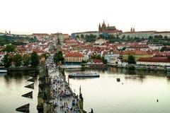 日落的布拉格 免版税库存照片