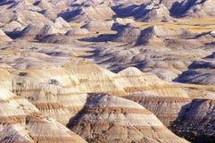 日落的恶地国家公园,南达科他 图库摄影