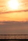 日落的日内瓦湖 免版税图库摄影
