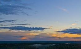 日落的明亮的颜色 库存图片