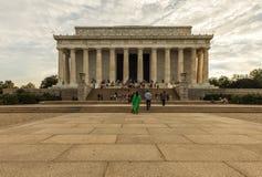 日落的林肯纪念堂 c d房子华盛顿白色 C ,美国 免版税库存图片