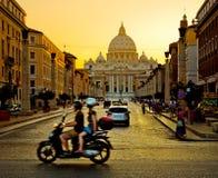 日落的梵蒂冈 库存图片