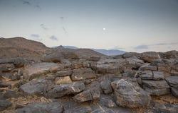 日落的沙姆山 图库摄影