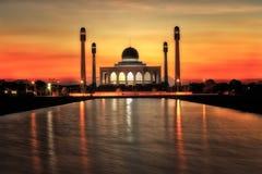 日落的泰国宋卡清真寺 库存图片