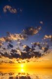 日落的海洋。 免版税库存图片